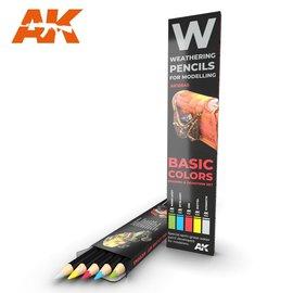 AK Interactive AK Interactive - Basic Color Shading an Demotion Set - Weathering Pencils
