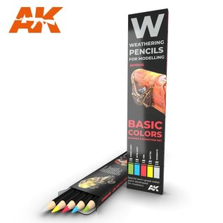 AK Interactive Basic Color Shading an Demotion Set - Weathering Pencils