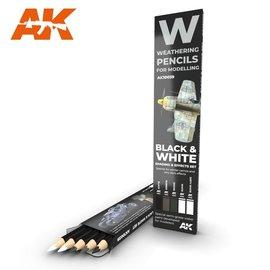 AK Interactive AK Interactive - Black & White Shading - Weathering Pencils