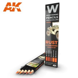 AK Interactive AK Interactive - Rust & Streaking Effects Set - Weathering Pencils