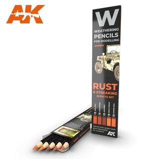 AK Interactive Rust & Streaking Effects Set - Weathering Pencils