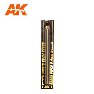AK Interactive Brass Pipes 0,4mm - Messing-Stab 0,4mm