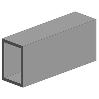 Evergreen Nr. 258 - Rechteckrohr, 350x4,8x7,9 mm,2Stück