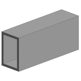Evergreen Nr. 257 - Rechteckrohr, 350x3,2x6,3 mm,3Stück