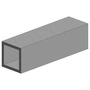 Evergreen Nr. 256 - Quadratrohr, 35 cm lang, 9,5 mm Kantenl.-3/8. 2 Stück