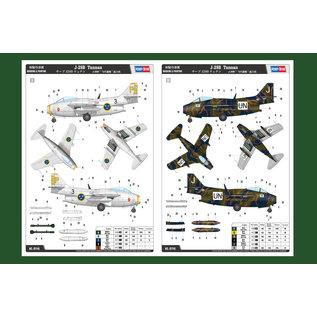 """HobbyBoss Saab J 29B Tunnan """"Flying Barrel"""" - 1:48"""