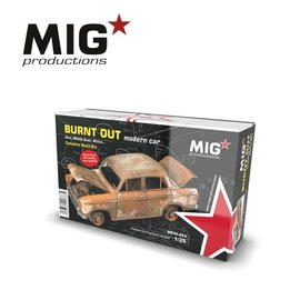 MIG MIG -  Burnt out modern car  - 1:35