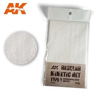 AK Interactive Tarnnetz, modern Typ 1 weiß - 1:35