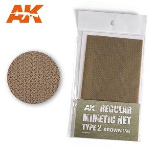 AK Interactive Tarnnetz, modern Typ 2 braun - 1:35