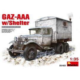 MiniArt MiniArt - GAZ AAA w/shelter - 1:35