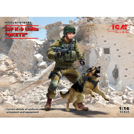 "ICM ICM - IDF K-9 Unit ""OKETZ"" with dog - 1:16"