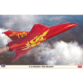 """Hasegawa Hasegawa - SAAB F-35 Draken """"Red Draken"""" Limited Edition - 1:48"""