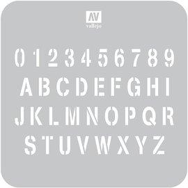 Vallejo Vallejo - Lackierschablone, Stempelschrift - 1:35