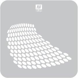 Vallejo Vallejo - Lackierschablone, verzerrte Wabe