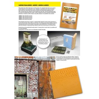 AK Interactive Gravur- und Modellierschaumstoff-Platte - Carving Foam - Größe DIN A5 x 10mm Plattenstärke