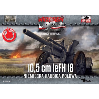 First to Fight 10,5cm leFH 18 German Field Howitzer  - 1:72