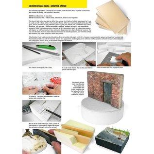 AK Interactive Hartschaumstoffplatte f. Dioramenuntergründe - Größe DIN A4 x 30mm Stärke