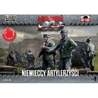 First to Fight German Artillery Crew (WWII)  - 1:72