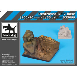 black dog Black Dog - Destroyed BT-7 Base - Vignette mit zerstörtem BT-7 - 1:35