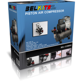 Belkits Ölfreier Kompakt-Kolbenkompressor mit 3 Liter Lufttank