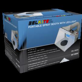 Belkits Belkits - Portable Spritzkabine mit Luftabsaugung und LED-Beleuchtung