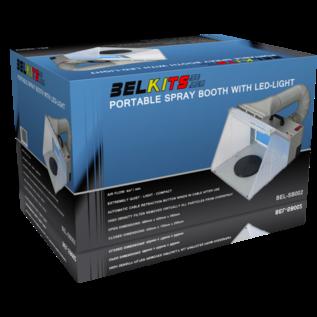 Belkits Portable Spritzkabine mit Luftabsaugung und LED-Beleuchtung