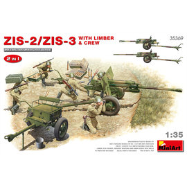 MiniArt MiniArt - ZIS-2/ZIS-3 Geschütz mit Protze und Mannschaft - 1:35
