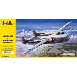 Heller Heller - Nord 2501 & Nord 2502 Noratlas - Twin Set - 1:72