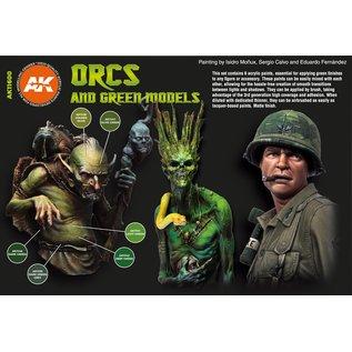 "AK Interactive 3rd Gen. Acryl. Set ""Orcs and green models"""