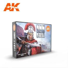 "AK Interactive AK Interactive - 3rd Gen. Acryl. Set ""Non metallic metal - steel"""