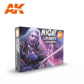 "AK Interactive AK Interactive - 3rd Gen. Acryl. Set ""Night Creatures Flesh tones"""
