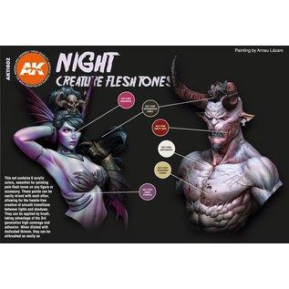 "AK Interactive 3rd Gen. Acryl. Set ""Night Creatures Flesh tones"""