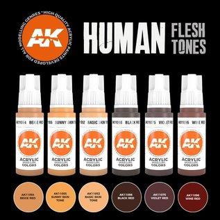 "AK Interactive 3rd Gen. Acryl. Set ""Human Flesh tones"""