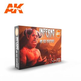 """AK Interactive AK Interactive - 3rd Gen. Acryl. Set """"Inferno and red creatures"""""""