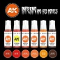 """AK Interactive 3rd Gen. Acryl. Set """"Inferno and red creatures"""""""