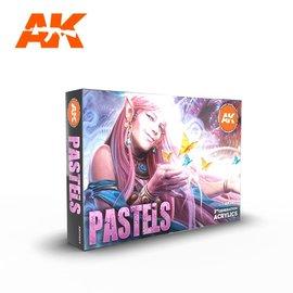 """AK Interactive AK Interactive - 3rd Gen. Acryl. Set """"Pastels Colors"""""""