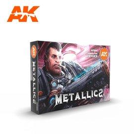 "AK Interactive AK Interactive - 3rd Gen. Acryl. Set ""Metallics Colors"""