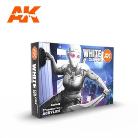 """AK Interactive AK Interactive - 3rd Gen. Acryl. Set """"White Colors"""""""