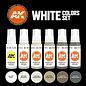 """AK Interactive 3rd Gen. Acryl. Set """"White Colors"""""""