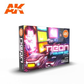 "AK Interactive AK Interactive - 3rd Gen. Acryl. Set ""Neon Colors"""
