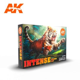 """AK Interactive AK Interactive - 3rd Gen. Acryl. Set """"Intense Colors"""""""