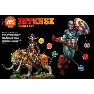 "AK Interactive 3rd Gen. Acryl. Set ""Intense Colors"""