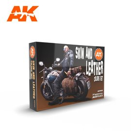 """AK Interactive AK Interactive - 3rd Gen. Acryl. Set """"Skin and leather colors"""""""