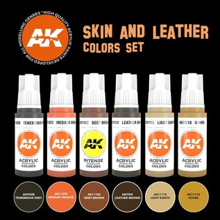 "AK Interactive 3rd Gen. Acryl. Set ""Skin and leather colors"""