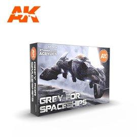 "AK Interactive AK Interactive - 3rd Gen. Acryl. Set ""Grey for Spaceships"""