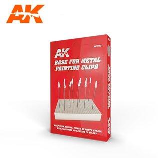 AK Interactive Halteplatte für Lackierhilfen / Krokodil-Klemmen