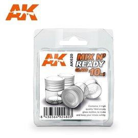 AK Interactive AK Interactive - Mischgläser 10ml mit Deckel (4 Stck.)