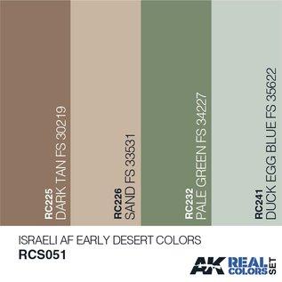 AK Interactive Real Color Set - Israeli AF Early Desert Colors