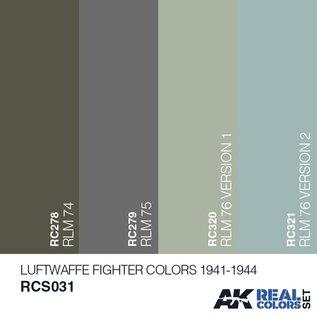 AK Interactive Real Color Set - Luftwaffe Fighter Color 1941-1944