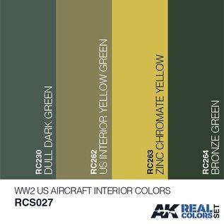 AK Interactive Real Color Set - WW2 US Aircraft Interior Colors